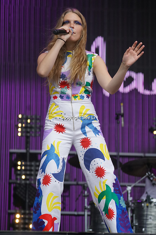 London, England, UK. 16th July 2017. Maggie Rogers performs at the Citadel Festival at Victoria Park, London, UK.