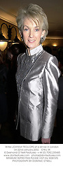 Writer JOANNA TROLLOPE at a dinner in London on 22nd January 2002.<br />OWU 34