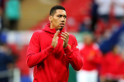 Chris Smalling of Manchester United applauds the fans - Mandatory by-line: Matt McNulty/JMP - 26/02/2017 - FOOTBALL - Wembley Stadium - London, England - Manchester United v Southampton - EFL Cup Final