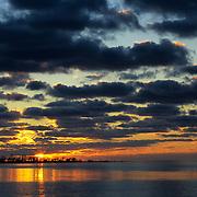 Sunrise over Bush Key seen from Garden Key  in Dry Tortugas National Park, FL.