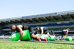 Ollie Lawrence of Worcester Warriors in action, as the team return to training in small socially distant groups after the Coronavirus lockdown restrictions were eased - Mandatory by-line: Robbie Stephenson/JMP - 23/06/2020 - RUGBY - Sixways Stadium - Worcester, England - Worcester Warriors Training