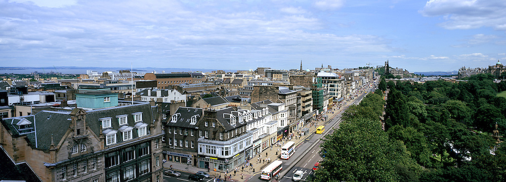 Princes Street View from St Johns Church