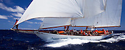 Astor sailing in the 2010 Antigua Classic Yacht Regatta, Windward Race, day 4.
