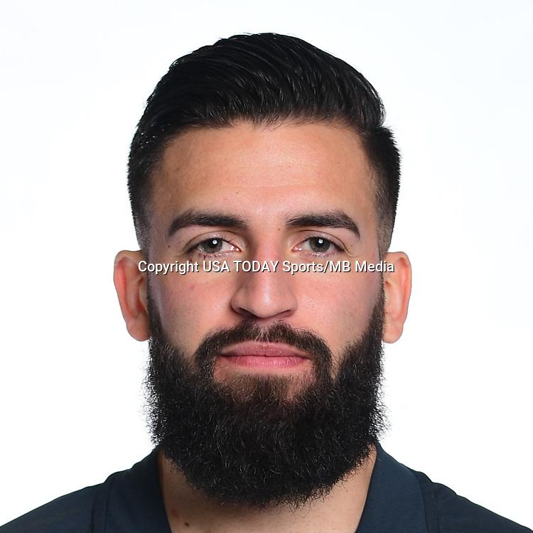 Feb 25, 2017; USA; Philadelphia Union player Richie Marquez poses for a photo. Mandatory Credit: USA TODAY Sports