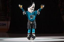 December 30, 2009; San Jose, CA, USA; The San Jose Sharks mascot before the game against the Washington Capitals at HP Pavilion. San Jose defeated Washington 5-2. Mandatory Credit: Jason O. Watson / US PRESSWIRE