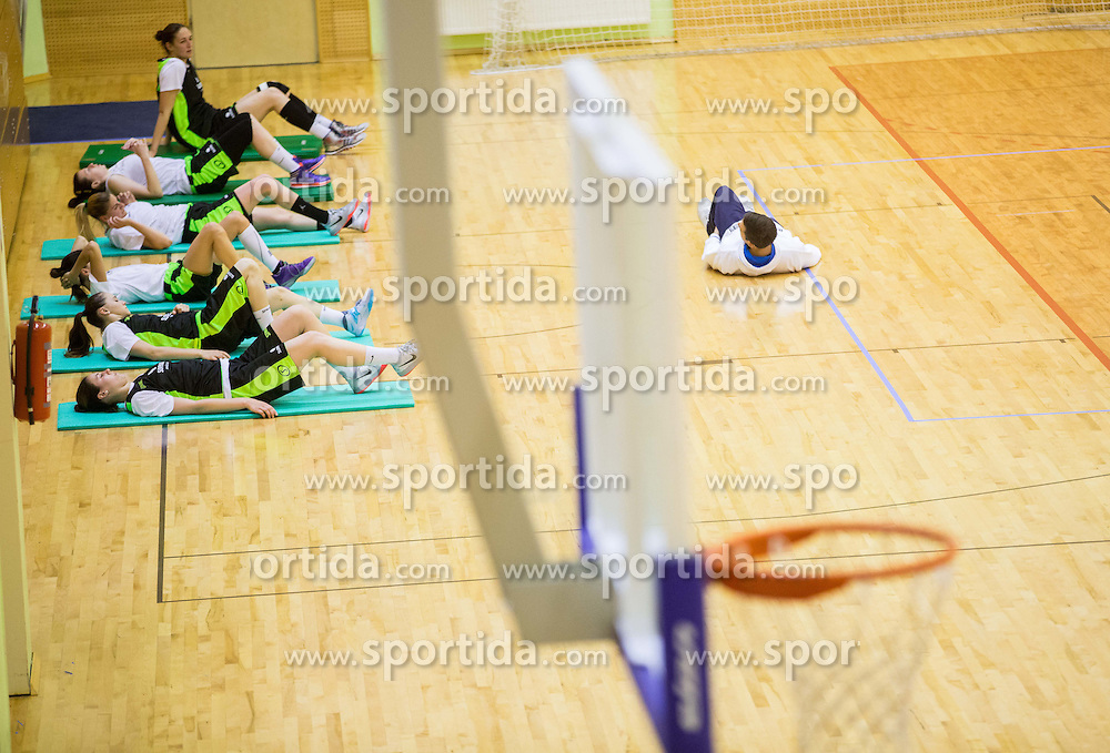 Athletes during practice session of Slovenian Women Basketball Team, on May 14, 2014 in Arena Vitranc, Kranjska Gora, Slovenia. Photo by Vid Ponikvar / Sportida