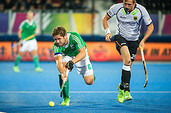 Ireland's Ronan Gormley. Ireland v Germany - Unibet EuroHockey Championships, Lee Valley Hockey & Tennis Centre, London, UK on 23 August 2015. Photo: Simon Parker