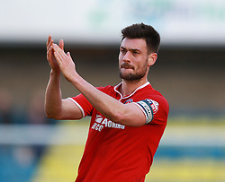 Charlton Athletic's Johnnie Jackson thanks the fans after the match - Photo mandatory by-line: Robin White/JMP - Tel: Mobile: 07966 386802 15/03/2014 - SPORT - FOOTBALL - The Den - Millwall - Millwall v Charlton Athletic - Sky Bet Championship