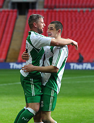 North Ferriby United players celebrate winning the FA Trophy Final at Wembley Stadium - Photo mandatory by-line: Paul Knight/JMP - Mobile: 07966 386802 - 29/03/2015 - SPORT - Football - London - Wembley Stadium - North Ferriby United v Wrexham - FA Trophy