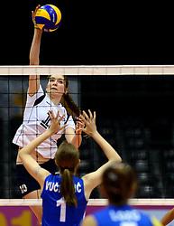 19-07-2013 VOLLEYBAL: EYOF FINAL SLOVENIE - SERVIE: UTRECHT<br /> Slovenie pakt de gouden medaille door Servie met 3-1 te verslaan / Mihevc Katja SLO<br /> ©2013-FotoHoogendoorn.nl