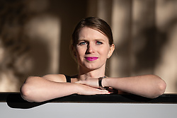 October 1, 2018 - London, London, UK - London, UK. American whistleblower Chelsea Manning poses for photos ahead of a public talk as guest of honour at the Institute of Contemporary Arts annual dinner. (Credit Image: © Tom Nicholson/London News Pictures via ZUMA Wire)