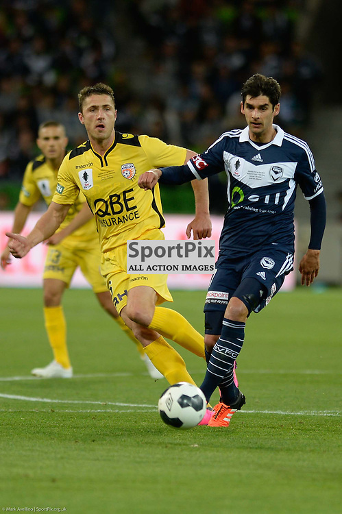 Dino Djulbic of Perth Glory FC, Gui Finkler of Melbourne Victory - Westfield FFA Cup Final, 7th November 2015, Melbourne Victory FC v Perth Glory FC 2:0 win to Victory- © Mark Avellino | SportPix.org.uk