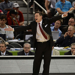 Mar 31, 2012; New Orleans, LA, USA; Louisville Cardinals head coach Rick Pitino reacts against the Kentucky Wildcats during the second half in the semifinals of the 2012 NCAA men's basketball Final Four at the Mercedes-Benz Superdome. Mandatory Credit: Derick E. Hingle-US PRESSWIRE