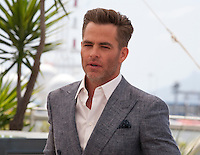 Actor Chris Pine at the Hell Or High Water film photo call at the 69th Cannes Film Festival Monday 16th May 2016, Cannes, France. Photography: Doreen Kennedy