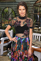 Sarah Ann Macklin at The Ivy Chelsea Garden's Annual Summer Garden Party, The Ivy Chelsea Garden, 197 King's Road, London England. 9 May 2017.<br /> Photo by Dominic O'Neill/SilverHub 0203 174 1069 sales@silverhubmedia.com
