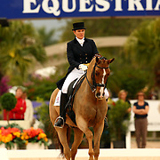 Ashley Holtzer and Pop Art at the Exquis World Dressage Masters in Wellington, Florida.