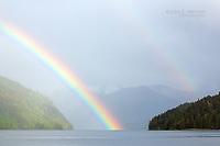 Rainbow in Khutzeymateen Inlet, BC Coast, Canada