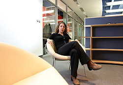 UK ENGLAND OXFORD 3DEC03 - Research Fellow in Astrophysics at Oxford University, Janna Levin at her office. Last year she published her first book titled 'How the Universe Got Its Spots' - Diary of a Finite Time in a Finite Space - in which she argues her mathematical model of a finite universe...jre/Photo by Jiri Rezac..© Jiri Rezac 2003..Contact: +44 (0) 7050 110 417.Mobile:   +44 (0) 7801 337 683.Office:    +44 (0) 20 8968 9635..Email:   jiri@jirirezac.com.Web:     www.jirirezac.com