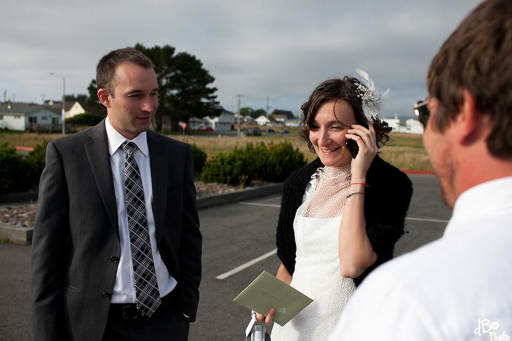 Jessica Notargiacomo and Philip Keffer's wedding in the Redwoods, California. (Photo/Douglas Bovitt)