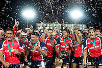 TASMAN CELEBRATE AFTER WINNING THE 2013 ITM CUP CHAMPIONSHIP FINAL, NELSON