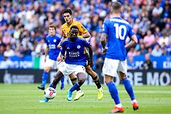 Ricardo Pereira of Leicester City goes past Raul Jimenez of Wolverhampton Wanderers - Mandatory by-line: Robbie Stephenson/JMP - 11/08/2019 - FOOTBALL - King Power Stadium - Leicester, England - Leicester City v Wolverhampton Wanderers - Premier League
