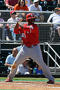 March 8, 2009: Harold Riggins of the North Carolina State Wolfpack in action during the NCAA baseball game between the Miami Hurricanes and the North Carolina State Wolfpack. The 'Canes defeated the Wolfpack 9-7.