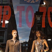 Shops during sale in Soho