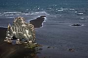 Iceland, snaefellsnes peninsula Volcanic rock formations at Grundarfjordur;