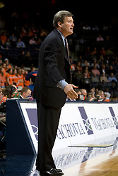 Northwestern head coach Bill Carmody..The Virginia Cavaliers men's basketball team faced the Northwestern Wildcats at John Paul Jones Arena in Charlottesville, VA on November 27, 2007.