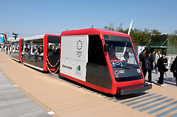 Electric passenger shuttle train at World Expo 2005 at Aichi near Nagoya Japan