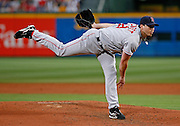 Boston pitcher Josh Beckett during the game between the Atlanta Braves and the Boston Red Sox at Turner Field in Atlanta, GA on June 19, 2007..