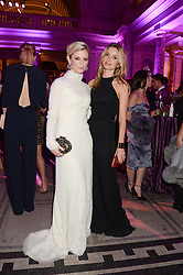 Left to right, EMILIA FOX and ANNABELLE WALLIS at the WGSN Global Fashion Awards held at the V&A museum, London on 30th October 2013.
