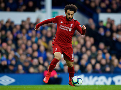 LIVERPOOL, ENGLAND - Sunday, March 3, 2019: Liverpool's Mohamed Salah during the FA Premier League match between Everton FC and Liverpool FC, the 233rd Merseyside Derby, at Goodison Park. (Pic by Laura Malkin/Propaganda)