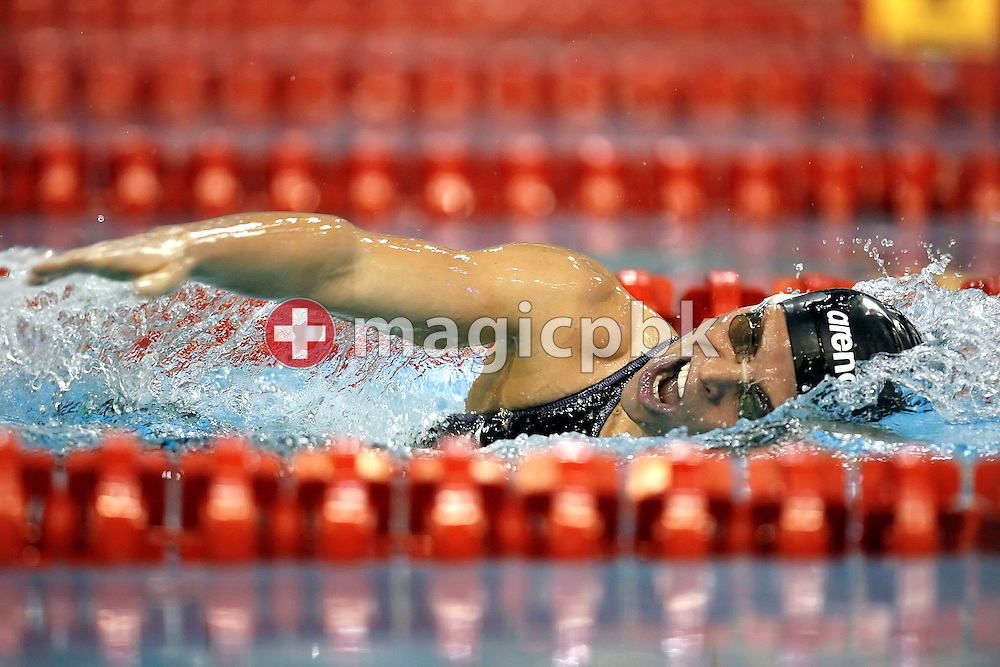 Joerdis Steinegger of Austria is pictured during a turn in the women's 400m individual medley (IM) heats on day four at the European Short-Course Swimming Championships at the Maekelaenrinne Swimming Centre in Helsinki, Finland, Sunday December 10, 2006. (Photo by Patrick B. Kraemer / MAGICPBK)