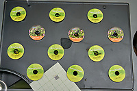 AeroGarden Farm 2 Left. at 14 days. Peppers (Mini Jalapeno, Purple Super Hot, Red Fire), and Chives. Image taken with a Leica TL-2 camera and 35 mm f/1.4 lens.