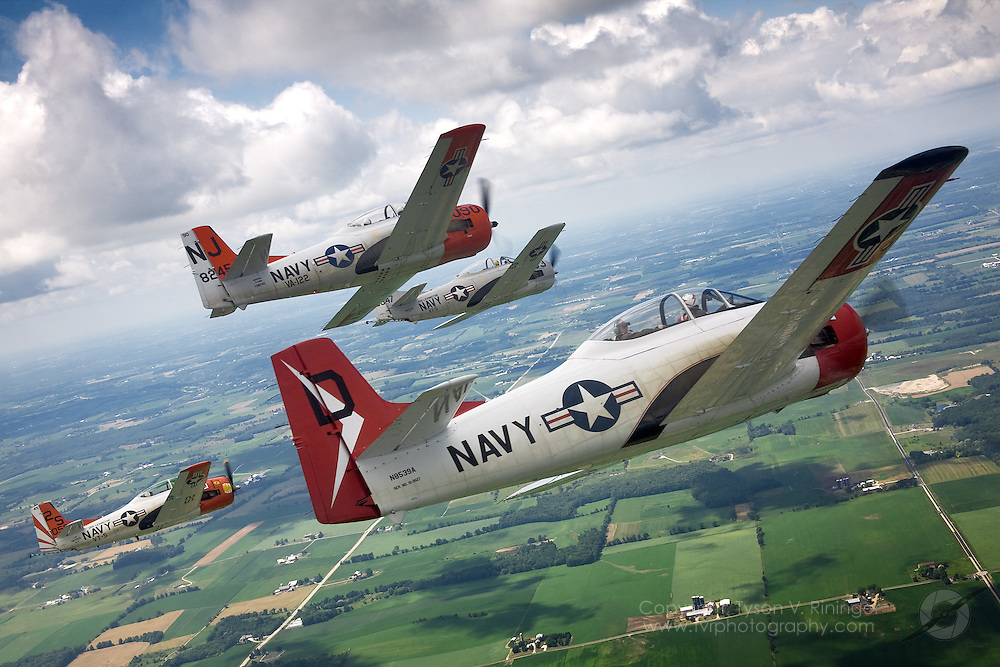 T-28 60th Anniversary Formation Training - Sheboygan, WI.