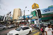 Malaysia, Kuala Lumpur. Bukit Bintang shopping and entertainment district. KL Monorail.