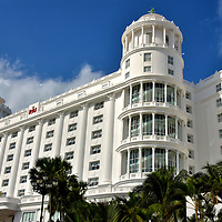 Accommodations in Hotel Zone of Cancun, Mexico <br /> This is the Hotel RIU Palace Las Americas, one of five RIU Hotels in Cancun and among the 75 resorts, hotels and rentable condos stretching along the twenty kilometer coastline of Zona Hotelera. Among the best (and most expensive) hotels are Ritz-Carlton, Le Blanc Spa Resort and Hyatt Zilara. Other hotels cater to families, the budget conscious or spring breakers. If these 35,000 rooms do not provide enough choices &ndash; and the number grows each year - countless more resorts are available on Isla Mujeres (a ferry ride away) and down the coast along Highway 307 in Playa del Carmen and the Riviera Maya.