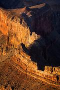 Dana Butte below Hopi Point. Grand Canyon National Park, Arizona.