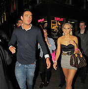 28.APRIL.2010. LONDON<br /> <br /> JACK TWEED LEAVING ALTO CLUB IN SOHO AT 3.30AM LOOKING WORSE FOR WEAR WITH A MYSTERY BLONDE GIRL ,  BEFORE GETTING IN A CAB AND HEADING TO JET BLACK CLUB IN COVENT GARDEN WHERE THE GIRL ARRIVED 5 MINUTES LATER, HE STAYED IN THERE TILL 5.30AM AND LEFT IN A CAB AND GOT FOLLOWED BY HIS FRIEND AND 4 GIRLS IN ANOTHER CAB AND THEY ALL WENT BACK TO A PRIVATE RESIDENCE IN MAYFAIR.<br /> <br /> BYLINE: EDBIMAGEARCHIVE.COM<br /> <br /> *THIS IMAGE IS STRICTLY FOR UK NEWSPAPERS AND MAGAZINES ONLY*<br /> *FOR WORLD WIDE SALES AND WEB USE PLEASE CONTACT EDBIMAGEARCHIVE - 0208 954 5968*