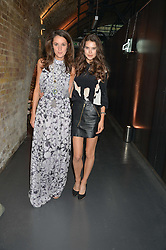 Left to right, ROSANNA FALCONER and SARAH ANN MACKLIN at a party to launch the Amazon Fashion Photography Studio at 383 Geffrye Street, London E2 on 23rd July 2015.