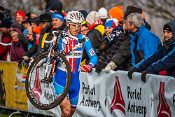 Martin BINA (36,CZE) 1st lap at Men UCI CX World Championships - Hoogerheide, The Netherlands - 2nd February 2014 - Photo by Pim Nijland / Peloton Photos