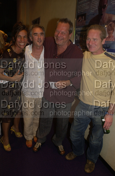 Gaby Dellal, Dennis Lawson, Terry Gillian and Peter Mullan. Gala Charity premiere of 'On A Clear Day' in aid of the NSPCC. The Screen on the Hill, Haverstock Hill, London. 31 August 2005. ONE TIME USE ONLY - DO NOT ARCHIVE  © Copyright Photograph by Dafydd Jones 66 Stockwell Park Rd. London SW9 0DA Tel 020 7733 0108 www.dafjones.com