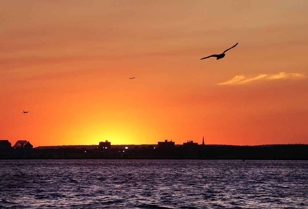 """I call this one """"Nuclear Sunset"""". Taken from the Coffee Street Pier in Red Hook, Brooklyn."""