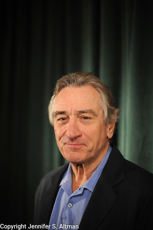 MANHATTAN, NEW YORK, JANUARY 16, 2013 Actor Robert De Niro is seen at the Tribeca Screening Room in Manhattan, NY. DeNrio is nominated for an Oscar for his role in Silver Linings Playbook.  1/16/2013 Photo by Jennifer S. Altman/For The Times