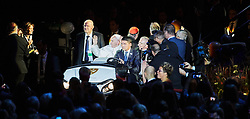 October 31, 2016 - Malm√, Sweden - Pope Francis arrive to the 'Together in Hope' event at Malmo Arena on October 31, 2016 in Malmo, Sweden. The Pope is on 2 days visit attending Catholic-Lutheran Commemoration in Lund and Malmo.  (Credit Image: © Aftonbladet/IBL via ZUMA Wire)