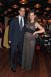 MAXIN CREWE and his wife CHARLOTTE DELLAL at a dinner to celebrate the beginning of a unique partnership between The Naked Heart Foundation and W's Newest Hotel W St.Petersburg -The 'For Russia With Love' dinner was hosted by Sadie Frost and Natalia Vodianova at Spice Market restaurant, W London, Leicester Square, London on 2nd June 2011.