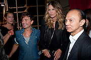 JULIAN MACDONALD; ELLE MACPHERSON; JIMMY CHOO, Julian Macdonald fashion show. Banqueting House. London. 19 September 2010. -DO NOT ARCHIVE-© Copyright Photograph by Dafydd Jones. 248 Clapham Rd. London SW9 0PZ. Tel 0207 820 0771. www.dafjones.com.