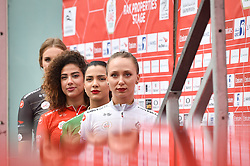 March 1, 2019 - Emirati Arabi Uniti - Foto LaPresse - Massimo Paolone.1 Marzo 2019 Emirati Arabi Uniti.Sport Ciclismo.UAE Tour 2019 - Tappa 6 - da Ajman a Jebel Jais - 180 km.Nella foto: le miss..Photo LaPresse - Massimo Paolone.March 1, 2019 United Arab Emirates.Sport Cycling.UAE Tour 2019 - Stage 6 - Ajman to Jebel Jais - 111,8 miles.In the pic: the miss (Credit Image: © Massimo Paolone/Lapresse via ZUMA Press)