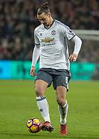 Football - 2016 / 2017 Premier League - West Ham United vs. Manchester United<br /> <br /> Zlatan Ibrahimovic of Manchester United at The London Stadium.<br /> <br /> COLORSPORT/DANIEL BEARHAM